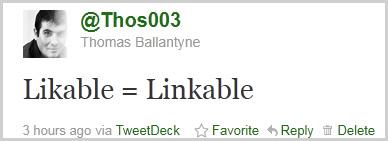 Likable = Linkable